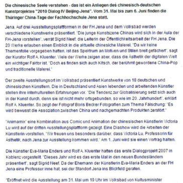 Thüringer Allgemeine _ Europa und Asien präsentieren sich an der FH